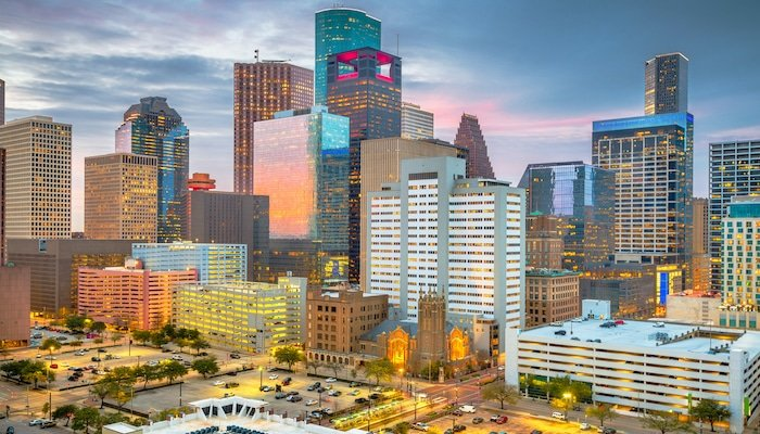 Houston, Texas, USA Downtown Skyline at Dusk
